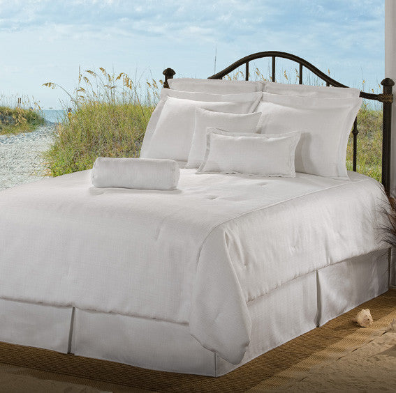 solid white bedding by Victor Mill Latitudes