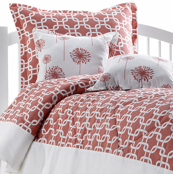 Coral Metro Dorm Bedding Set + Sham