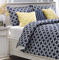 Geometric Metro Navy Blue Duvet Cover