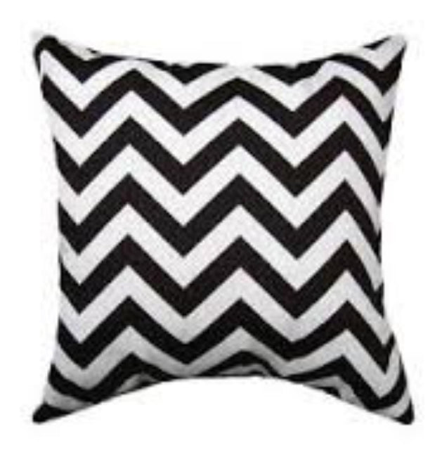 Navy Chevron Accent Pillow