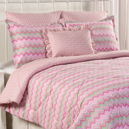 pink dorm bedding set