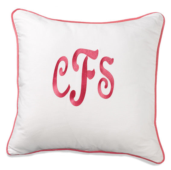 Monogrammed Euro Sham from American Made Dorm & Home