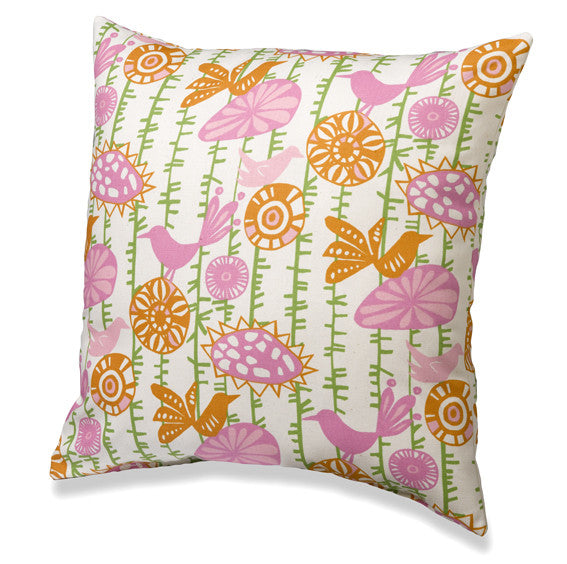 Menagerie in Pink Accent Pillow by American Made Dorm & Home