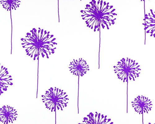 Purple Dandelion Shower Curtain