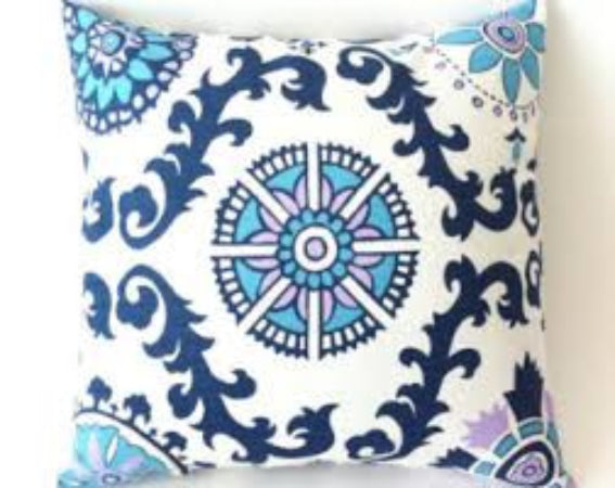 Rosa Berries Damask Accent Pillow