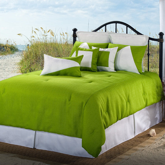 Solid Green Bedding by Victor Mill Latitudes Collection