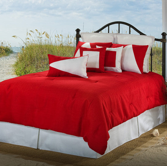 Solid Red Bedding Latitudes Collection by Victor Mill