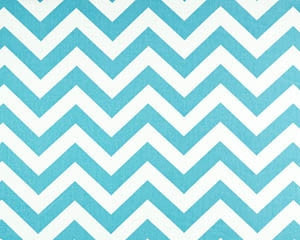 Girly Blue Chevron Curtains and Window Treatments