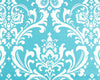 Tiffany Blue Damask Headboard