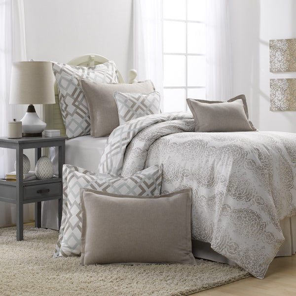Grey And Taupe Bedding Set (Duvet)
