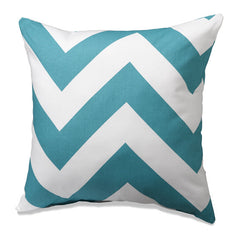 Turquoise and White Accent Pillow