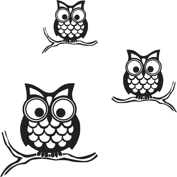 owls wall art decals