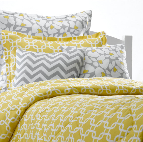 Yellow Metro Duvet Set American Made Dorm Amp Home