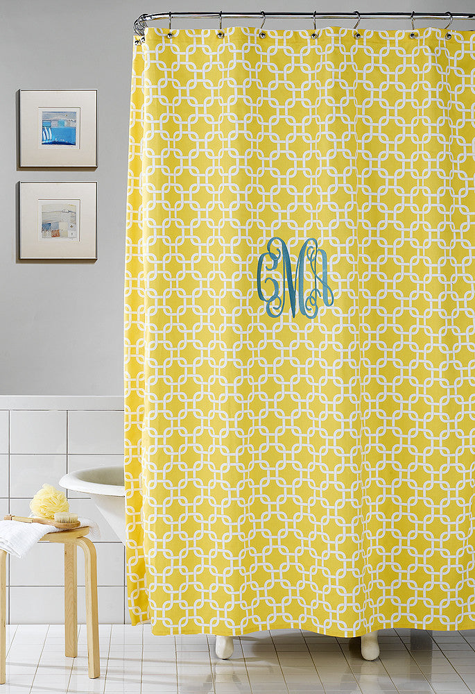 Yellow Metro Shower Curtain By American Made Dorm Home