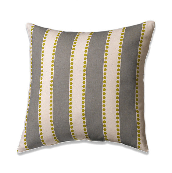 Summerland Gray Pillow by American Made Dorm & Home