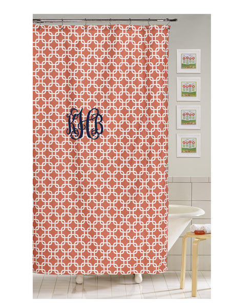 Coral Metro Shower Curtain
