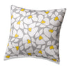 Gray and Yellow Poppy Accent Pillow