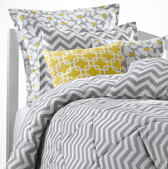 Gray Chevron Duvets by American Made Dorm & Home