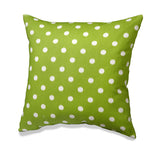 Green Ikat Polka Dots Accent Pillow