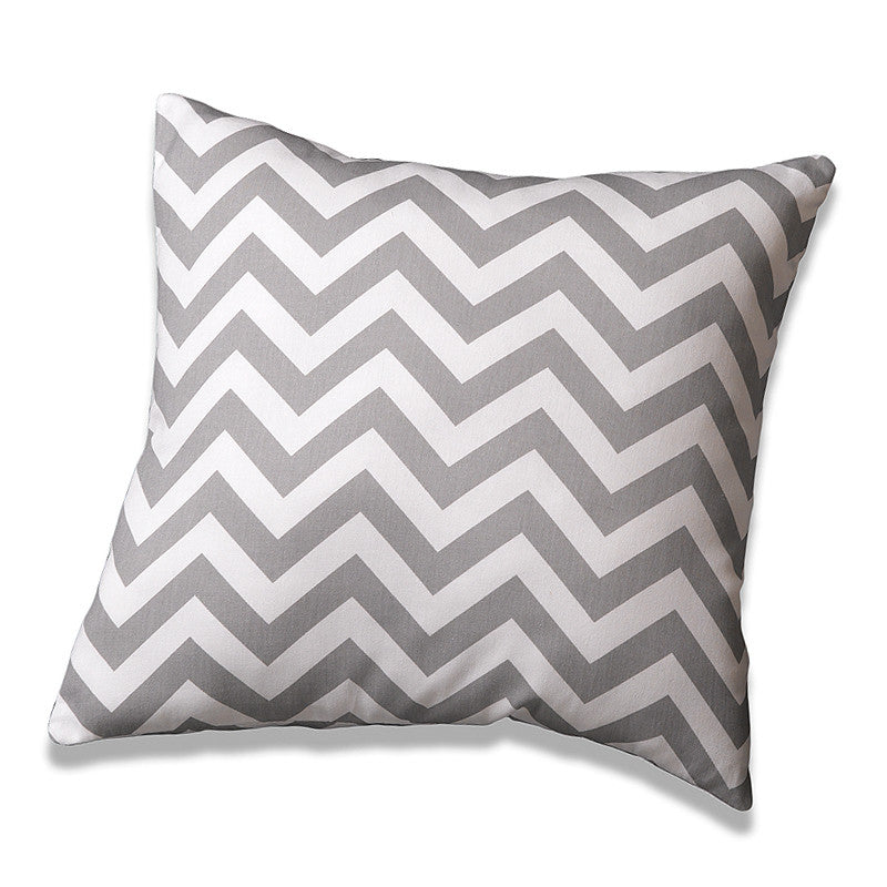 Gray Chevron Accent Pillow - Sold Out