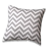 Gray Chevron Accent Pillow