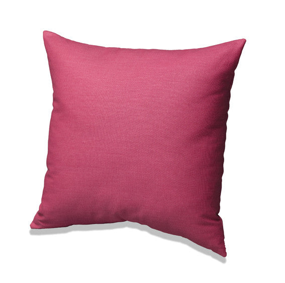 Hot Pink Solid Accent Pillow