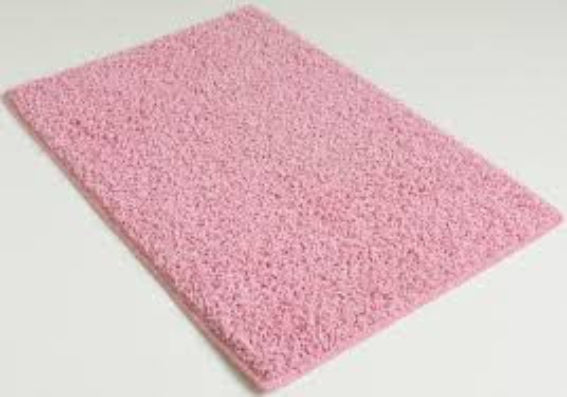 Solid Hot Pink Rug by Milliken