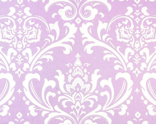 Lavender Damask Accent Pillow