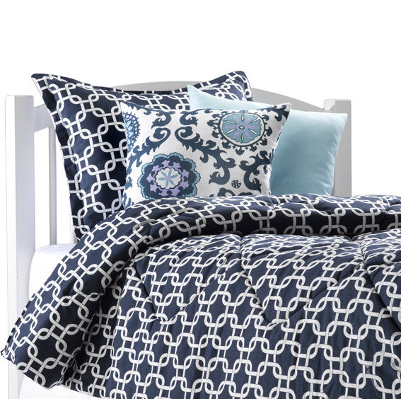 Navy Metro Dorm Bedding by American Made Dorm