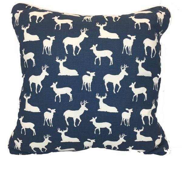 Navy Woodland Accent Pillow