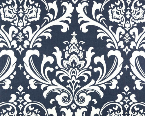 Navy Damask Headboard