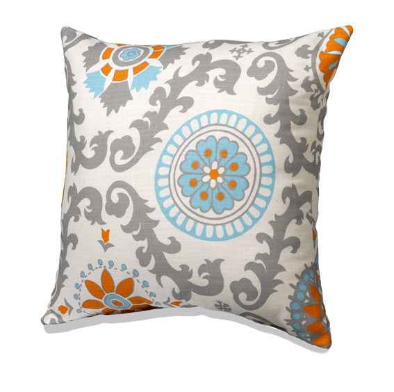 Mandarin Damask Accent Pillow