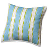 Tiffany Blue Striped Accent Pillow
