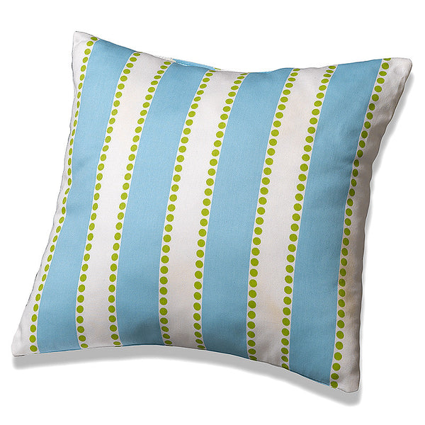 Tiffany Blue Stripe Accent Pillow