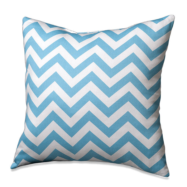 Tiffany Blue Chevron Pillow by American Made Dorm & Home