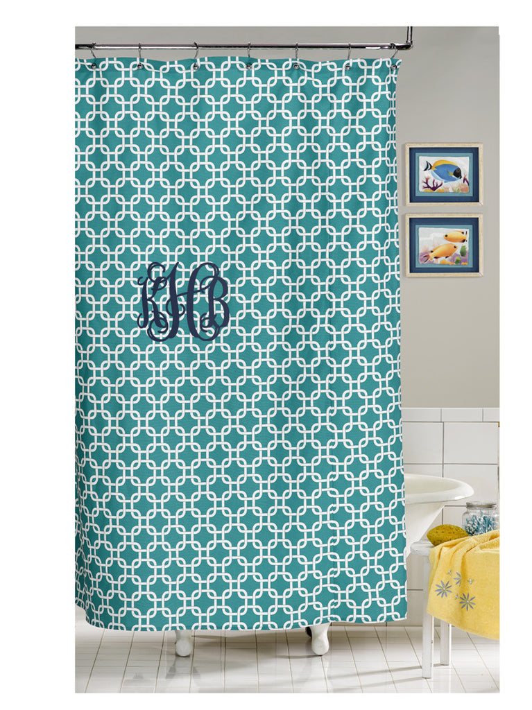 Turquoise Metro Shower Curtain by American Made Dorm & Home