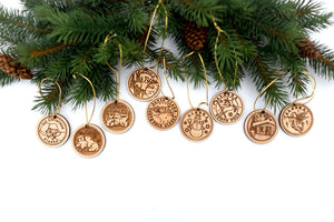 Custom Alaska Birch Christmas Ornaments available from Santa's Letters and Gifts-North Pole, Alaska