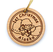 Load image into Gallery viewer, Baby's First Christmas Ornament, made from Alaska Birch and available at Santa's Letters and Gifts-North Pole, Alaska