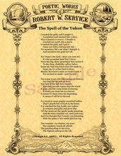 Load image into Gallery viewer, Robert Service Poetry - santaslettersandgifts
