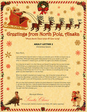 Load image into Gallery viewer, Deluxe Santa Letter and Tube Package for Teens, Adults and Pets, Adult Letter 2 shown. Available from Santa's Letters and Gifts in North Pole, Alaska.