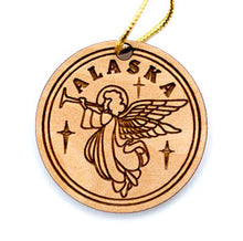 Load image into Gallery viewer, Angel Ornament, made from Alaska Birch and available at Santa's Letters and Gifts-North Pole, Alaska