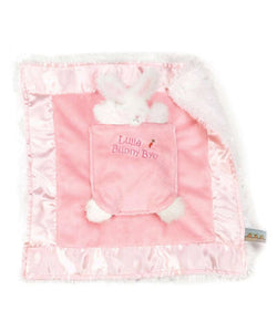 Blanket with Pocket Bunny Rattle