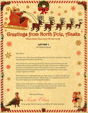 Load image into Gallery viewer, Deluxe Santa Letter and Tube Package for Babies and Kids. Letter 1 shown. Available from Santa's Letters and Gifts in North Pole, Alaska.