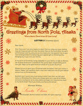 Load image into Gallery viewer, Deluxe Santa Letter and Tube Package for Babies and Kids. Letter 2 shown. Available from Santa's Letters and Gifts in North Pole, Alaska.