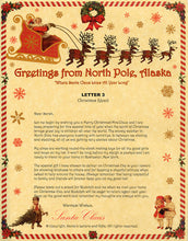 Load image into Gallery viewer, Deluxe Santa Letter and Tube Package for Babies and Kids. Letter 3 shown. Available from Santa's Letters and Gifts in North Pole, Alaska.