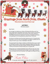 Load image into Gallery viewer, Santa Letter and Northern Lights Package for Babies and Kids, Letter 3 shown. Available from Santa's Letters and Gifts in North Pole, Alaska.
