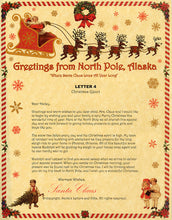 Load image into Gallery viewer, Deluxe Santa Letter and Tube Package for Babies and Kids. Letter 4 shown. Available from Santa's Letters and Gifts in North Pole, Alaska.