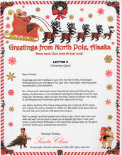 Load image into Gallery viewer, Santa Letter and Northern Lights Package for Babies and Kids, Letter 5 shown. Available from Santa's Letters and Gifts in North Pole, Alaska.