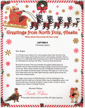 Load image into Gallery viewer, Santa Letter and Northern Lights Package for Babies and Kids, Letter 6 shown. Available from Santa's Letters and Gifts in North Pole, Alaska.