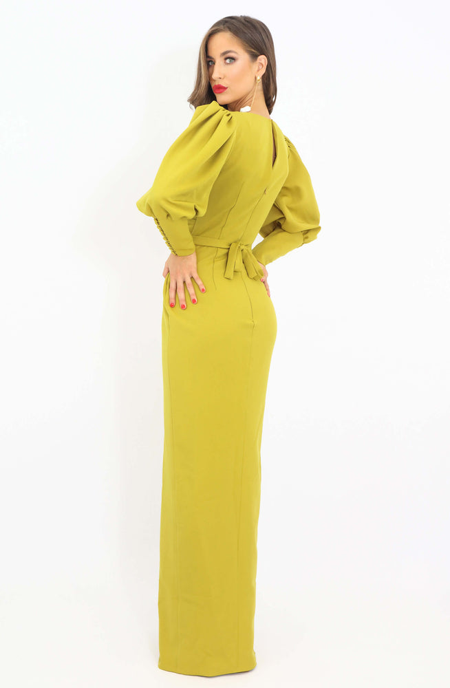 Mustard Estate Long Sleeve Dress by HSH